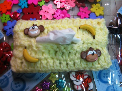 Easy to crochet tissue Cover