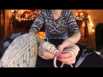 Finger Knitting Infinity Scarf