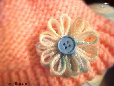Flower on a Knifty Knitter Flower Loom - Make with Any 12-peg Loom Boye Darice Martha Stewart