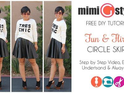 FREE DIY Tutorial! Circle Skirt w. Mimi G