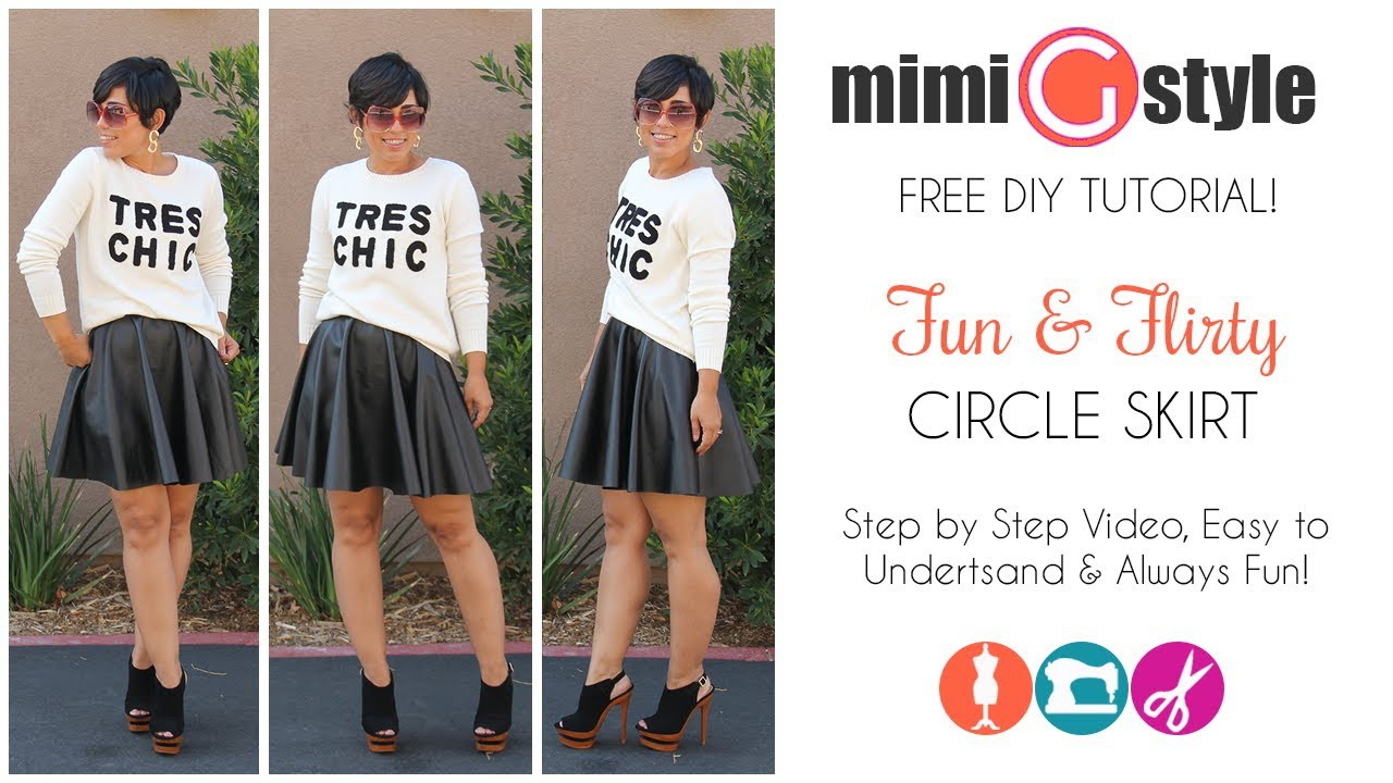 FREE DIY Tutorial! Circle Skirt w. Mimi G