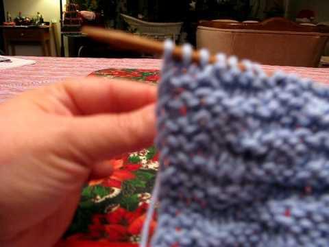 Free Knitting Instruction Video-  YF, Sl1P, YB - To create flat edges to the Basket Weave Dish Cloth