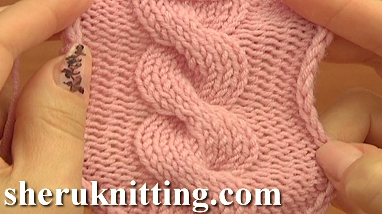 Front Cross Cable Stitch Pattern C8F Knitting Tutorial 12 Easy Cable Patterns