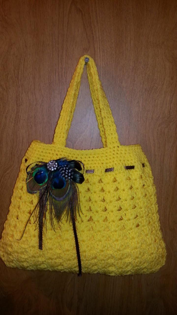 Fun Idea for DIY Crochet  #handbag lovely purse #Tutorial Handmade crochet bag Craft Idea