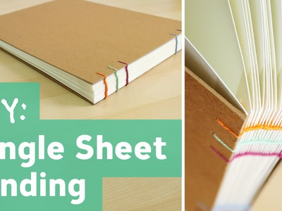 How to Bind Single Sheets : Bookbinding Tutorial