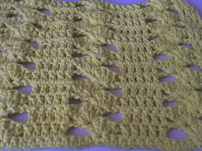How to crochet a dishcloth - Drunk clusters design. Tambien en espanol