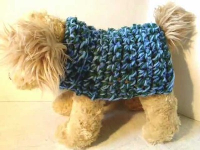 HOW TO CROCHET A DOGGIE COAT ANY SIZE