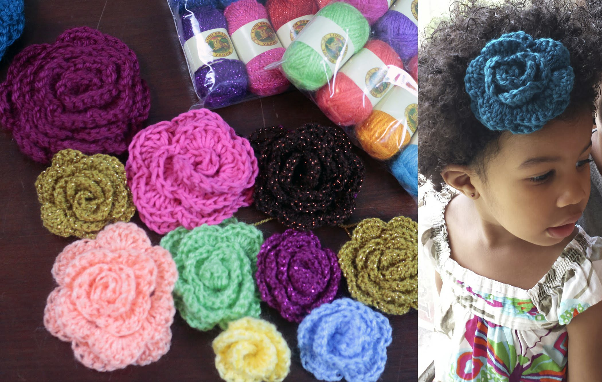 How to Crochet a Flower & Yarn GIVEAWAY!