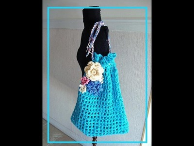 How to crochet a Market Bag, free crochet pattern, bags and purses,