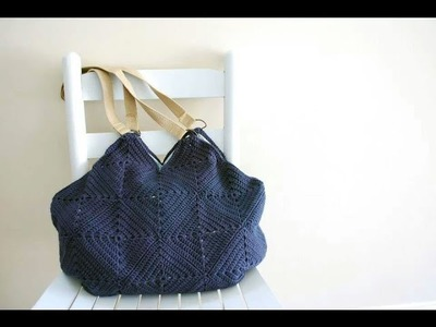 How to Crochet a purse: Part 1 How to crochet a solid granny square