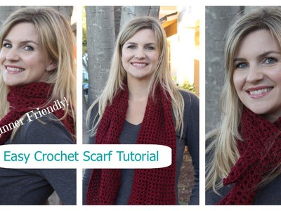 How to Crochet a Simple Stylish Scarf for Fall