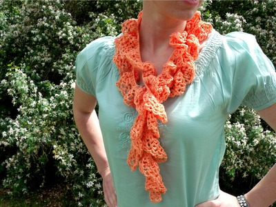 How to crochet a twisted, twirly, spiral scarf with crochet thread