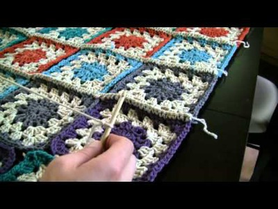 How To Crochet Color Burst Afghan Part 3