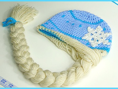 How to Crochet Elsa Anna Disney Frozen  Princess Braided Winter Hat