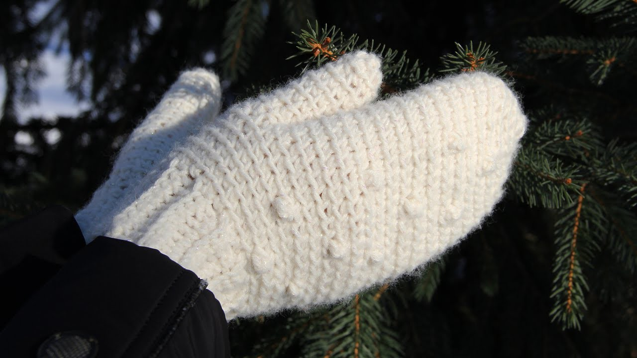 How to crochet mittens - video tutorial for beginners