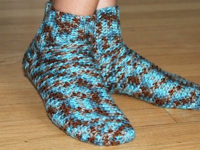 How to crochet socks - video tutorial for beginners