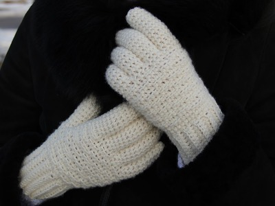 How to crochet women's gloves - video tutorial for beginners