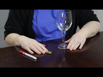 How to Decorate Wine Glasses With Paint Markers : Craft Projects With Paint