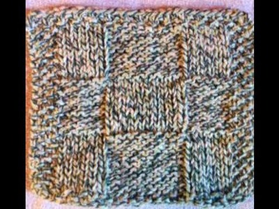 How to Knit a Dish or Wash Cloth