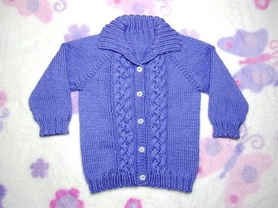 How to Knit a Seamless Braided Cable Baby Sweater Part 2