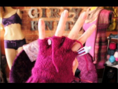 How to Knit Glove Fingers