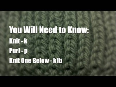 How to Knit The Fisherman's Rib Stitch