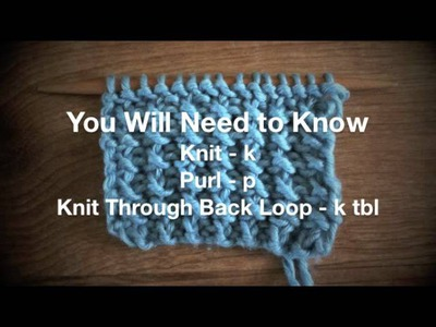 How to Knit the Rice Stitch