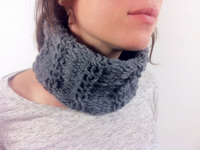 How to Loom Knit a Cabled Cowl (DIY Tutorial)