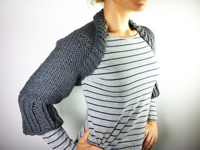 How to Loom Knit a Shrug (DIY Tutorial)
