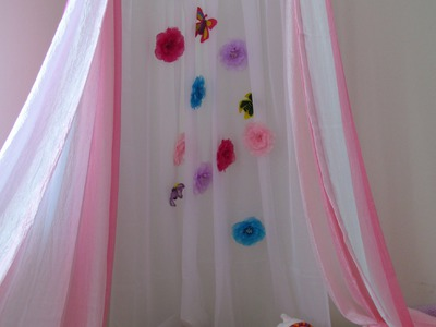 How to make a Canopy Tent Craft DIY No Sew Kid's Canopy Play Tent