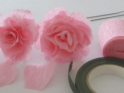 How to Make a Crepe Paper Rose Craft Tutorial