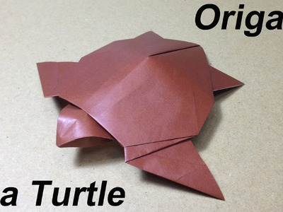 How to Make a Paper Animal. Origami Sea Turtle