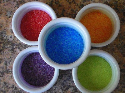 How to make Glitter or Colored Sand Easy & Quick DIY: