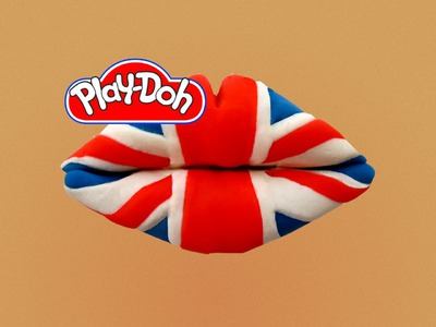 How to make Lip Art UK Flag out of Play Doh