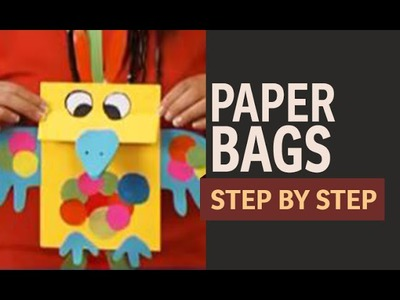 How to make Paper Bags For Gift - Crow & Bird (Hindi)