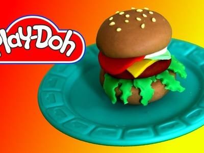 How to make  Play Doh Hamburger