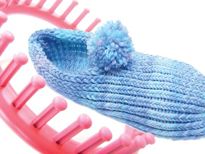 How to make slippers with a round knitting loom