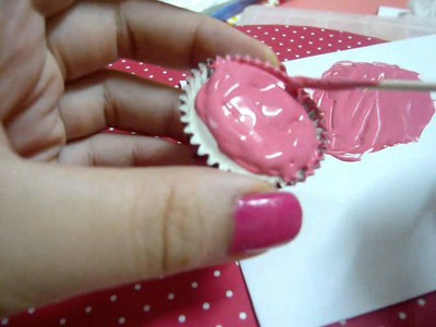 ♥黏土杯型蛋糕教學♥~♥How to make a craft cup cake♥