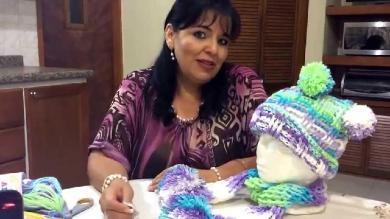 Juego de Gorro y Bufanda - Tejido en crochet - Tejiendo con Laura Cepeda