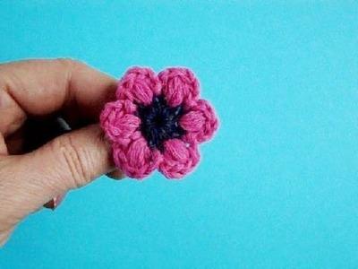 Как вязать цветок Урок 13 How to crochet flower pattern