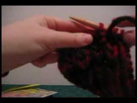 Knit brioche rib stitch demo