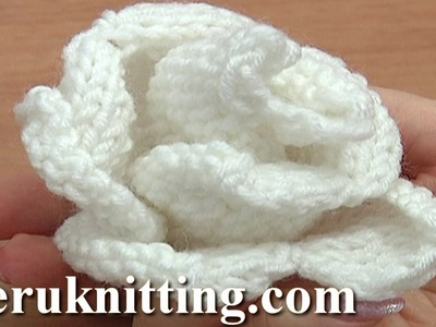 Knit Rose Flower Pattern Tutorial 13 Free Flower Knitting Patterns