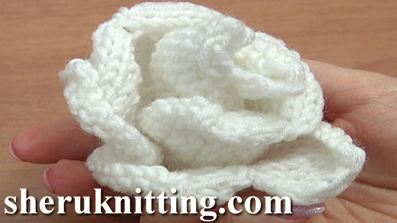 Knitting Rose Pattern : Knit rose flower pattern tutorial free knitting