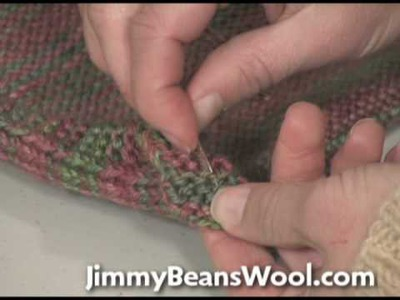 Knitting Instructional Video - How to Weave in Ends