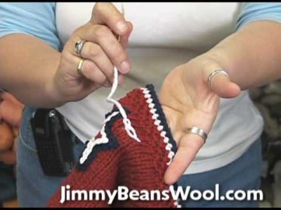 Knitting Instructional Video - Chain Stitch Embroidery