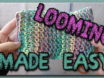 Learn the Basic Stitches for Loom Knitting - Dish Cloths