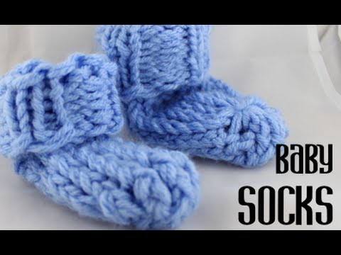 Loom Knitting Baby Socks (super easy!)