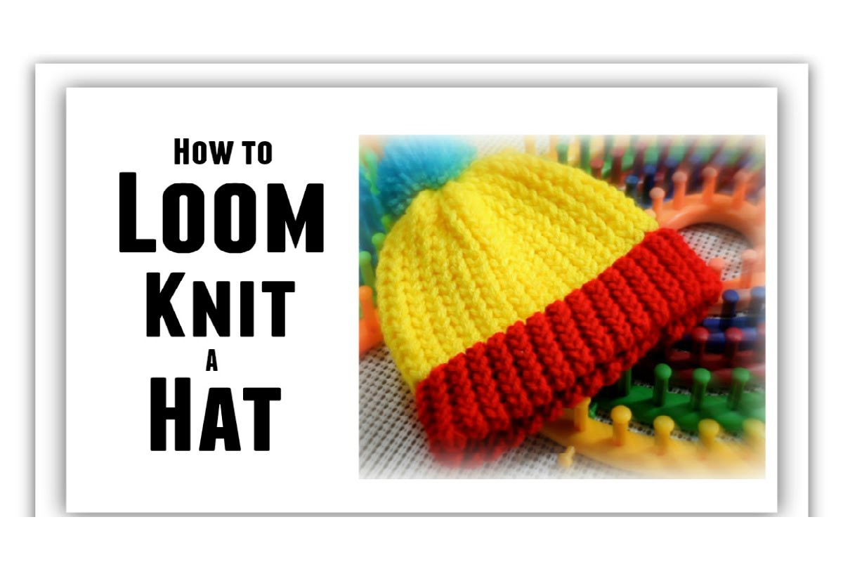 LOOM KNITTING HAT for Beginners EASY - Loom Size, Make Brim, Change Color - All Sizes