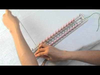 Loom Knitting: How to Cast On for Double Knitting