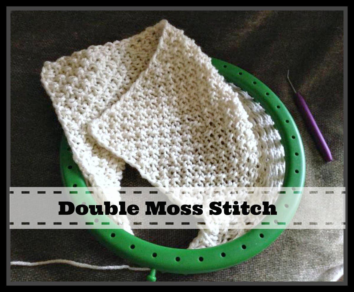 LOOM KNITTING STITCHES Double Moss Stitch Pattern